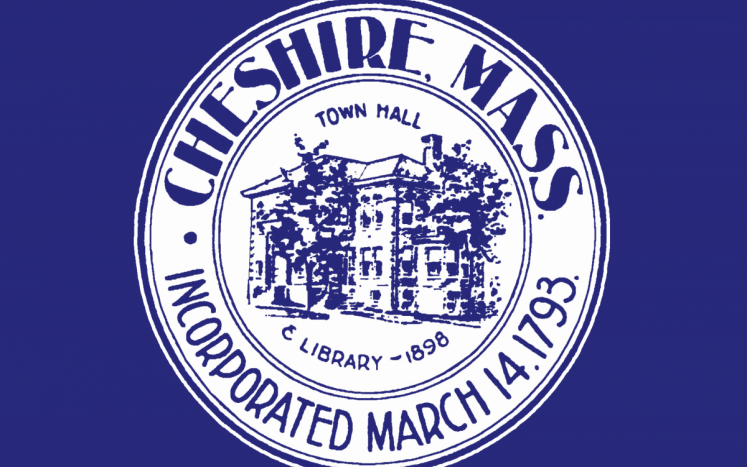 Town of Cheshire Seal on a blue field