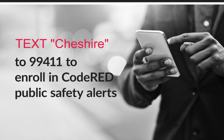 text to enroll text cheshire to 99411